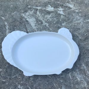 Vintage Pfaltzgraff white turkey platter with box